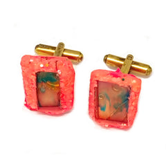 CORAL PATTERNED CUFFLINKS