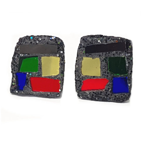 CHUNKY MULTICOLOURED CUFFLINKS