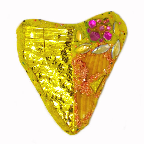 FRUIT - YELLOW HEART BROOCH