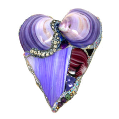 PURPLE HEART BROOCH - PURPLE PULL