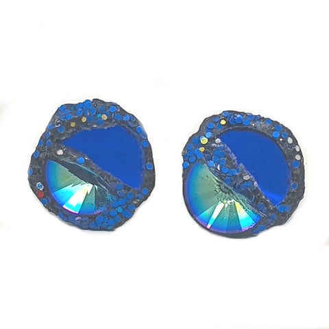 BLUE AND TURQUOISE CRYSTAL CUFFLINKS