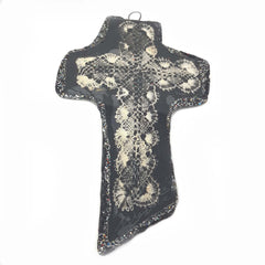 BLACK CROSS PENDANT/WALL HANGING - MYSTIC