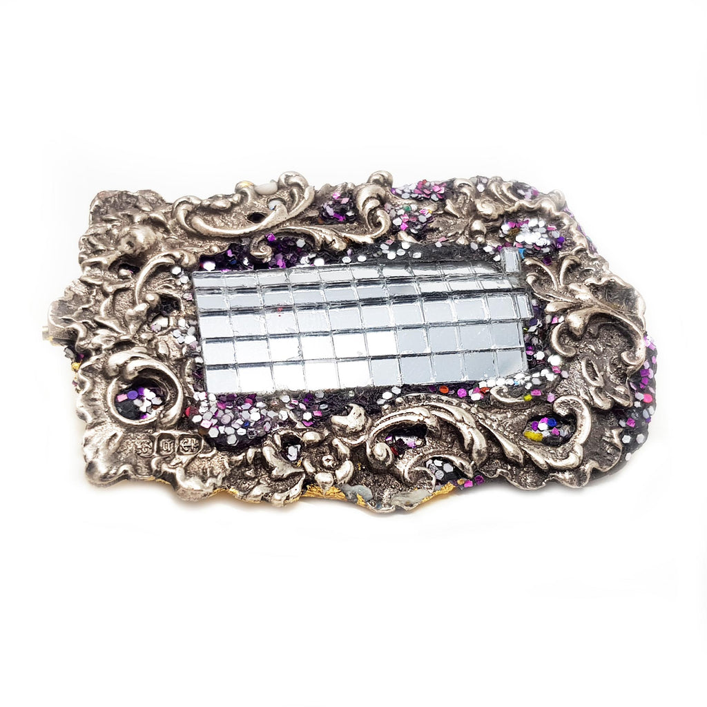 ORNATE SILVER BROOCH - BELT