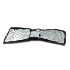 SILVER LONG BOW TIE BROOCH