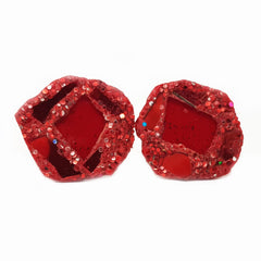RED RHOMBUS CUFFLINKS