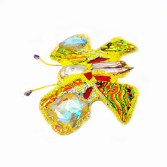 YELLOW BUTTERFLY BROOCH