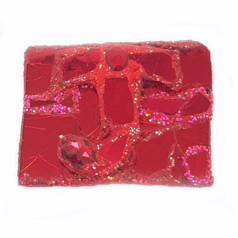 RED J LETTER BROOCH - JOY