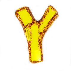 LETTER Y - YELLOW BROOCH