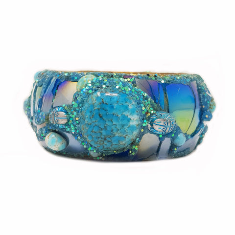 AQUAMARINE & TURQUOISE BANGLE
