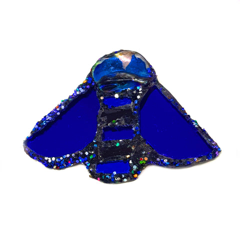 BLUE BEE BROOCH - B