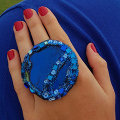 BLUE COCKTAIL RING