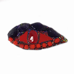 RED & PURPLE EYE BROOCH
