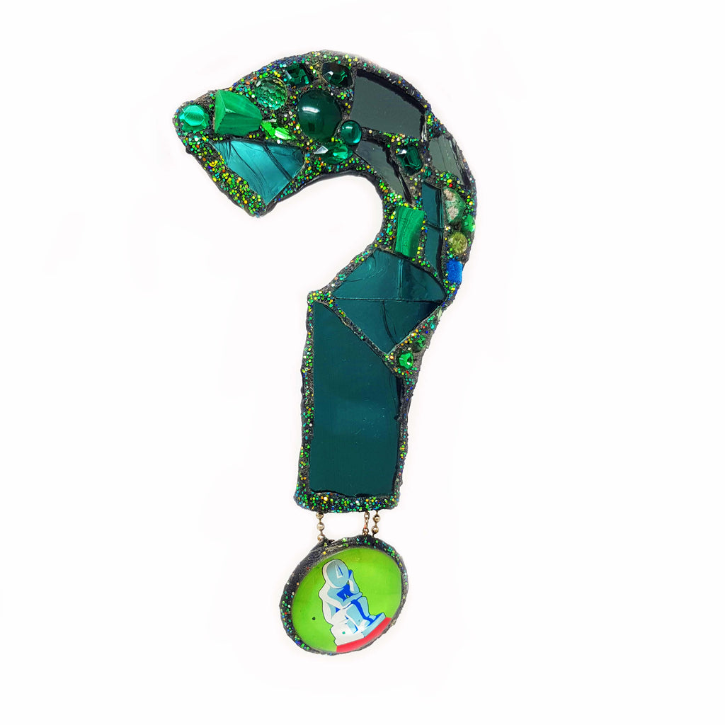 A QUESTION OF GREEN BROOCH OR PENDANT