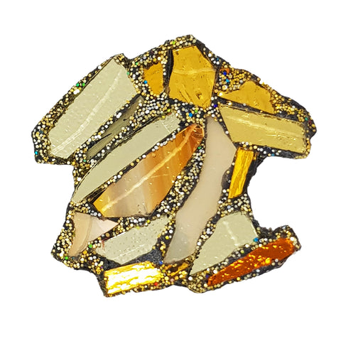 GOLDEN CHIPS BROOCH - Z's CHIPS