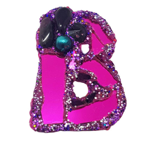 LETTER B -  PURPLE BROOCH