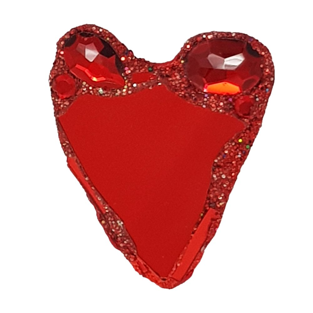 RED HEART BROOCH - LUV