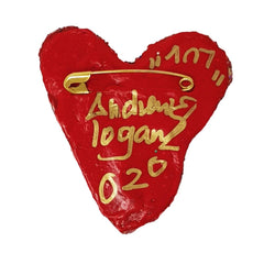 Andrew Logan Heart Brooch