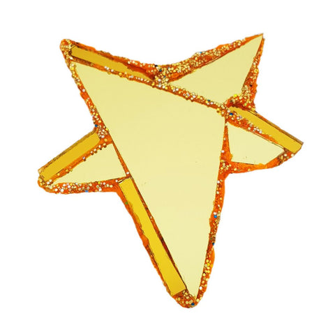 GOLD STAR BROOCH - GOLD LIGHT
