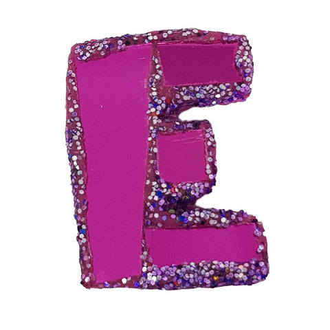 LETTER E -  PURPLE BROOCH