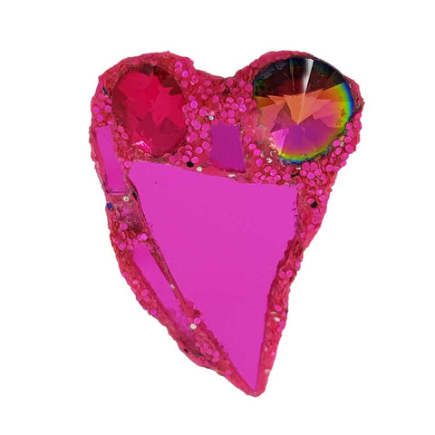 PINK HEART BROOCH - LOST