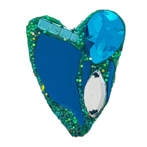 TURQUOISE HEART BROOCH - VAL