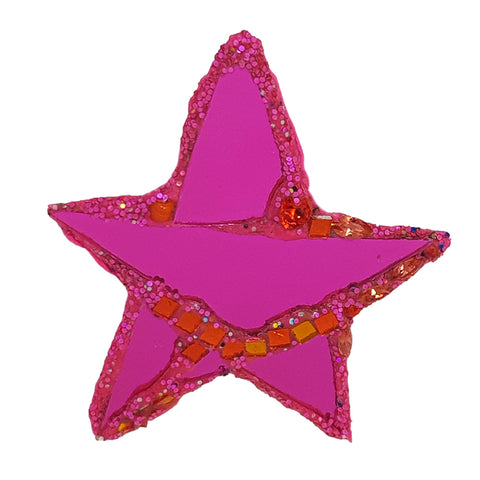 PINK STAR BROOCH