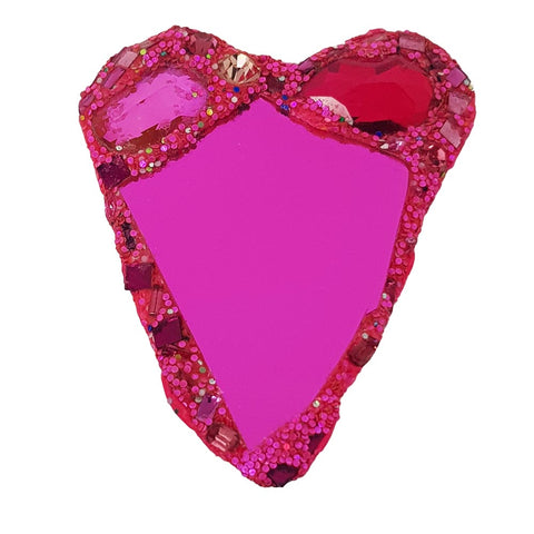 PINK HEART BROOCH - Z to B