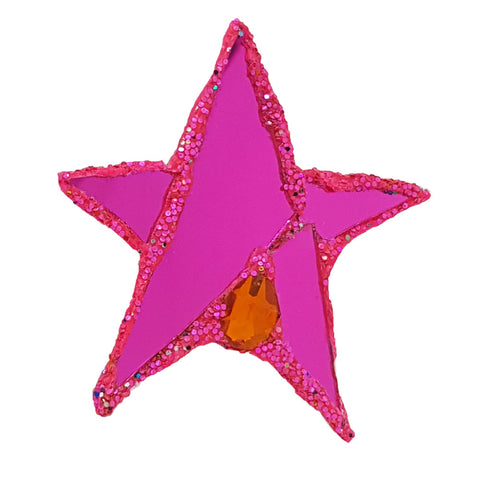 PINK STAR BROOCH - INDIA
