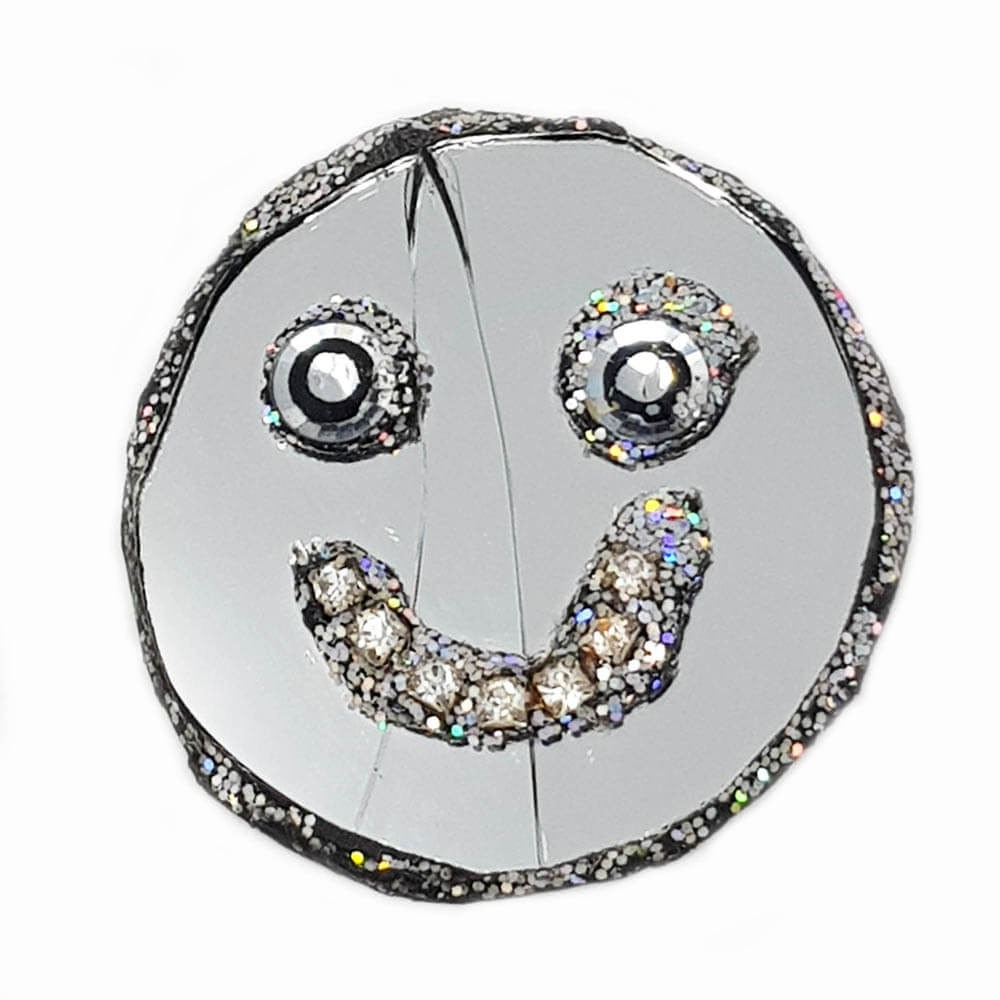 Andrew Logan Smiley Face brooch