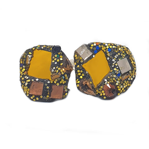 GOLD AND BRONZE CUFFLINKS