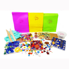 ANDREW LOGAN CRAFTING KITS AVAILABLE WITH COLOURFUL OR NATURAL MATERIALS