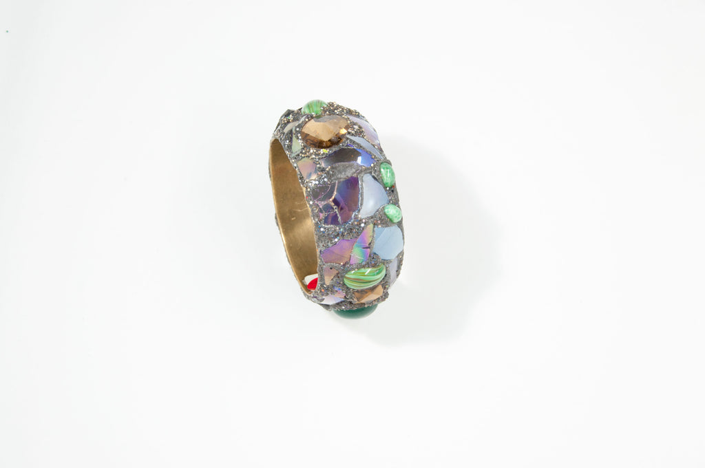 Lilac and Green Bangle