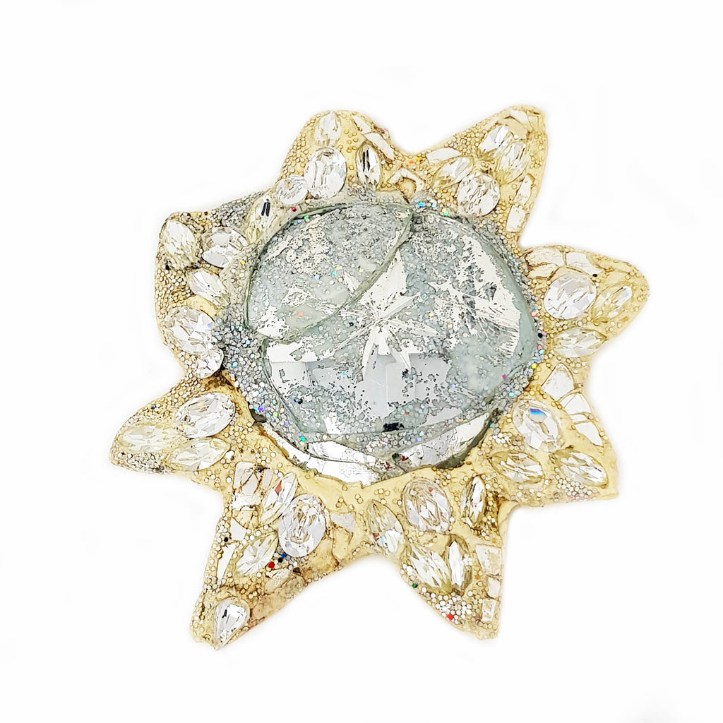 SILVER STAR BROOCH - DIAMOND