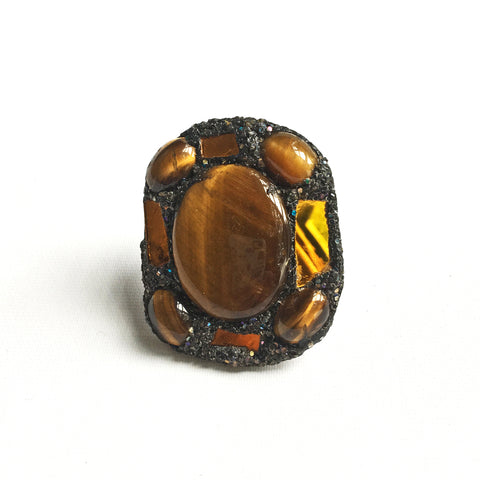 TIGER EYE JASPER RING - 2011