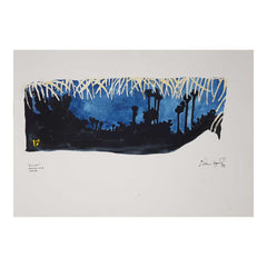 "ORIGINAL WATERCOLOUR OF AUROVILLE, INDIA - ""QUIET"" ANDREW LOGAN 1998"