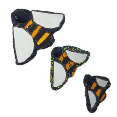 3 sizes of Andrew Logan Bee Brooches