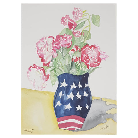 ORIGINAL WATERCOLOUR OF AMERICAN ROSES - BY ANDREW LOGAN 2011