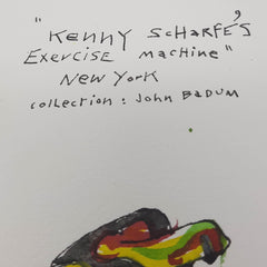 ORIGINAL WATERCOLOUR OF KENNY SCHARF'S BIKE - BY ANDREW LOGAN 1994