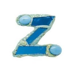 Letter Z Brooch 2003 Blue