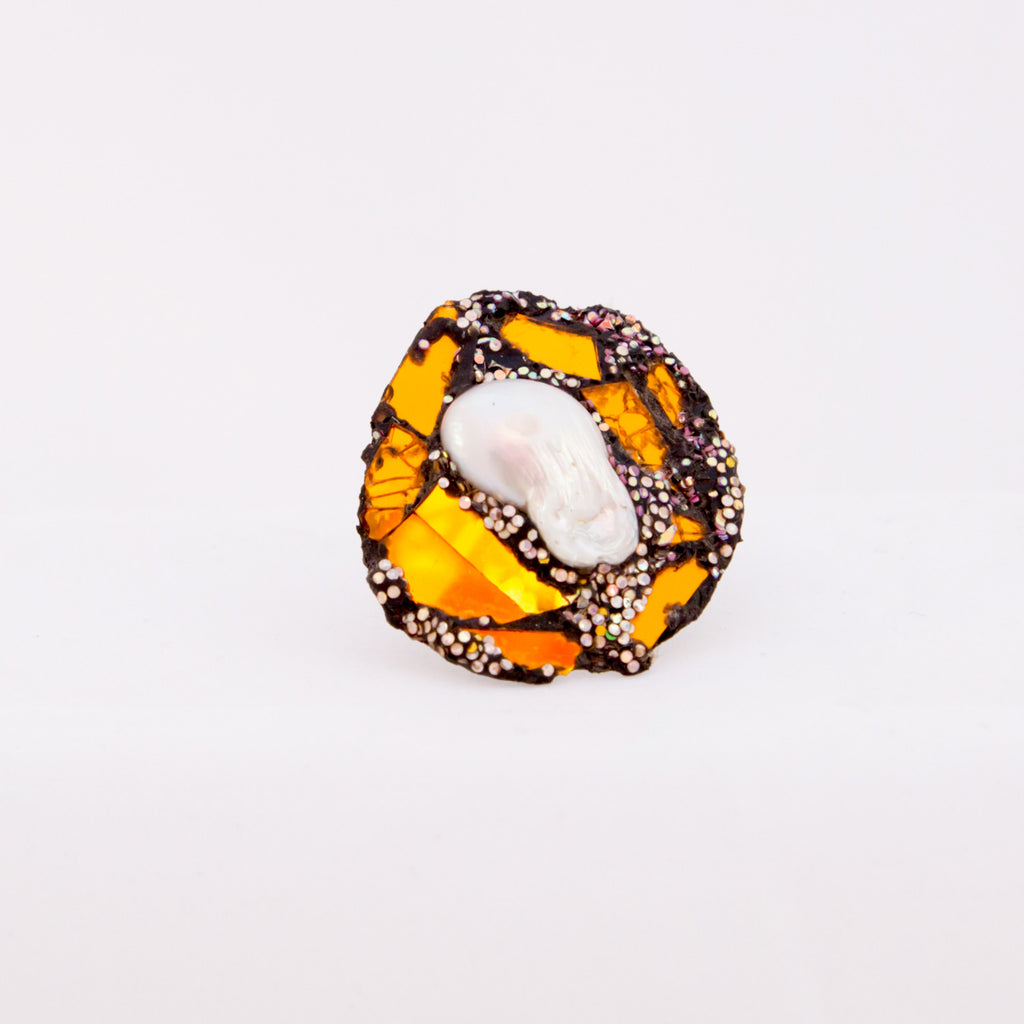 Pearl and gold ring, 2012