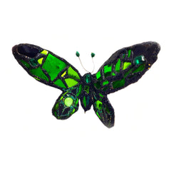 GREEN BUTTERFLY SCULPTURE or MOBILE