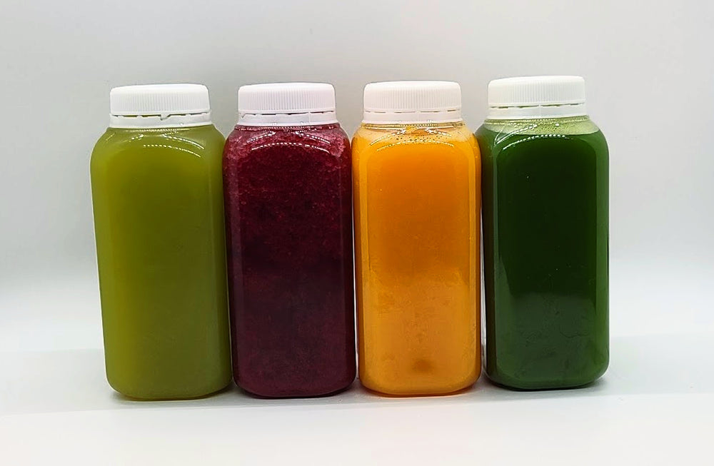 Juice Starter Pack                                                                                                                  - Choose any combination of 3 juices to try! - Naturel Juicing