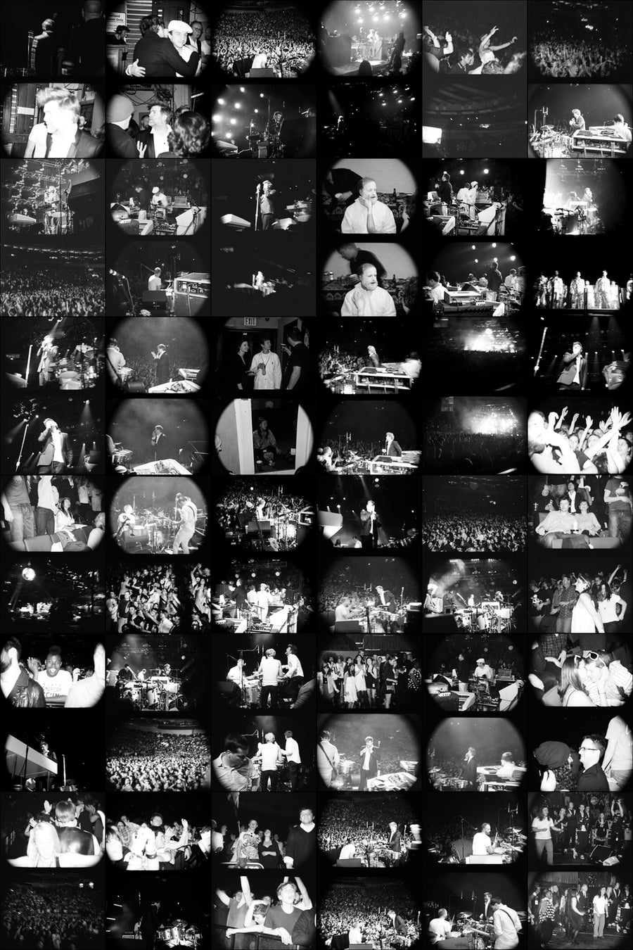 Last Show black and white contact sheet