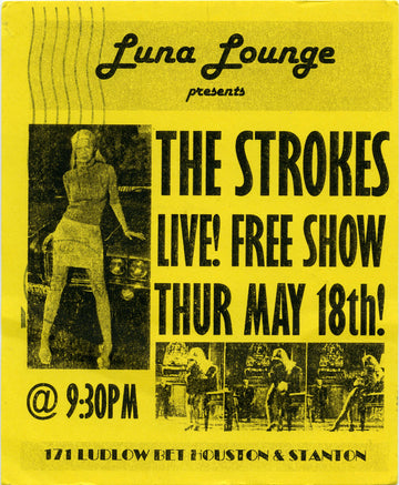Luna Lounge, The Strokes (Yellow)