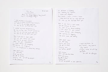 Maggie Rogers Hand Drawn Lyric Sheet