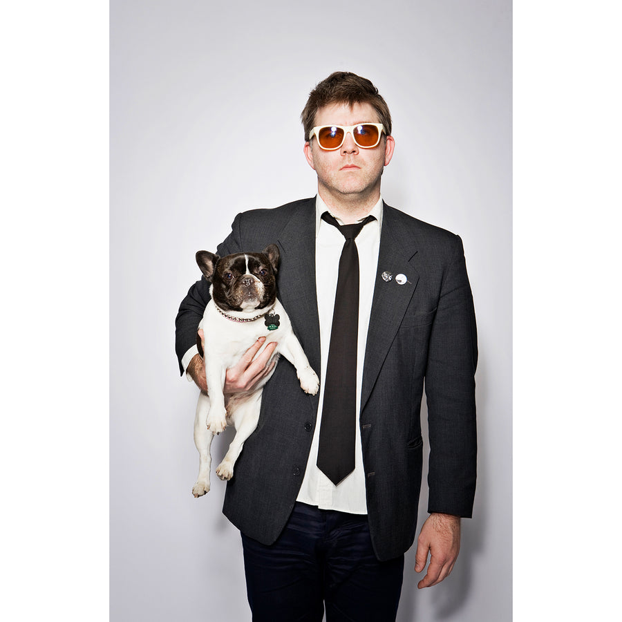 James Murphy (LCD Soundsystem) and Petunia, Brooklyn, 2010