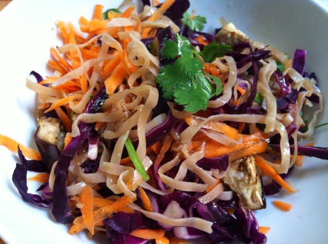 Seaweed Brown Rice Noodles Coleslaw