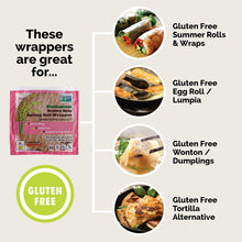 Load image into Gallery viewer, Star Anise Foods Gluten Free Spring Roll Wrappers (Brown Rice)