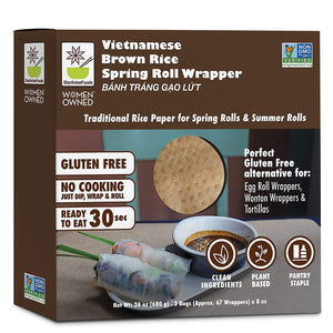 Star Anise Foods Gluten Free Spring Roll Wrappers (Brown Rice)