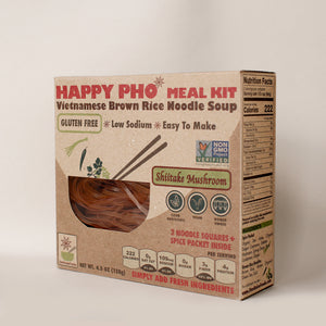 HAPPY PHO Shiitake Mushroom Meal Kit - Pack of 6